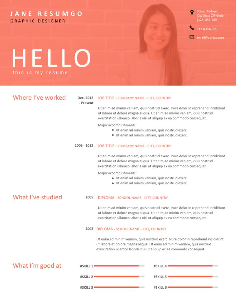 Agueda - Free Resume Template - RESUMGO