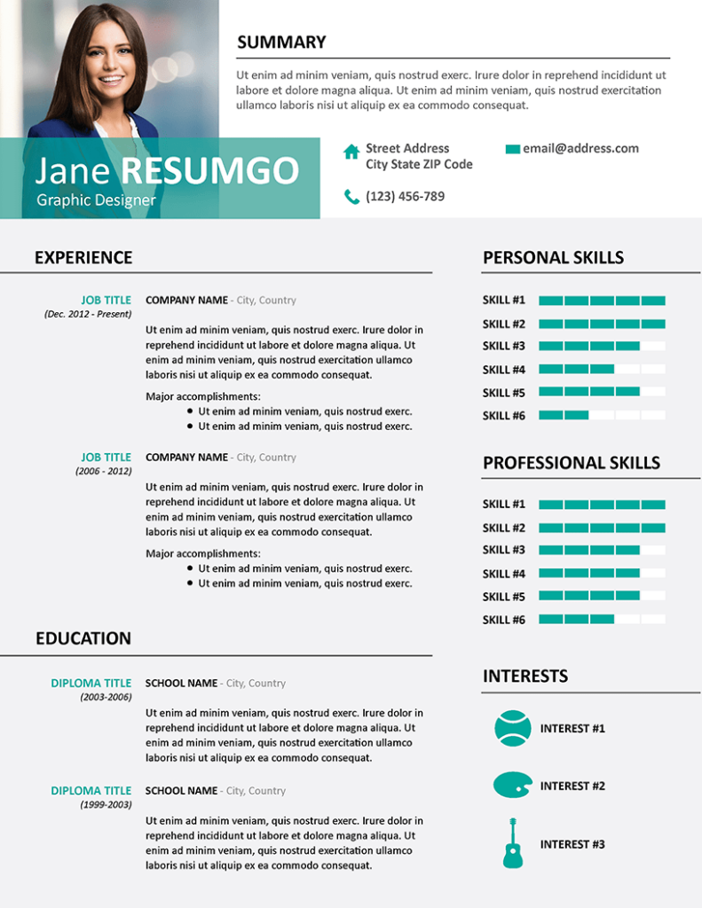 ALECTA - Free Professional Resume Template - RESUMGO