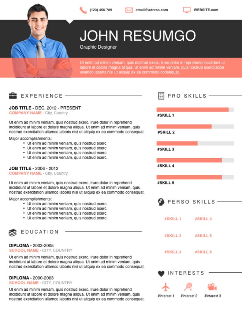 ELIAS - Free Resume Template - RESUMGO
