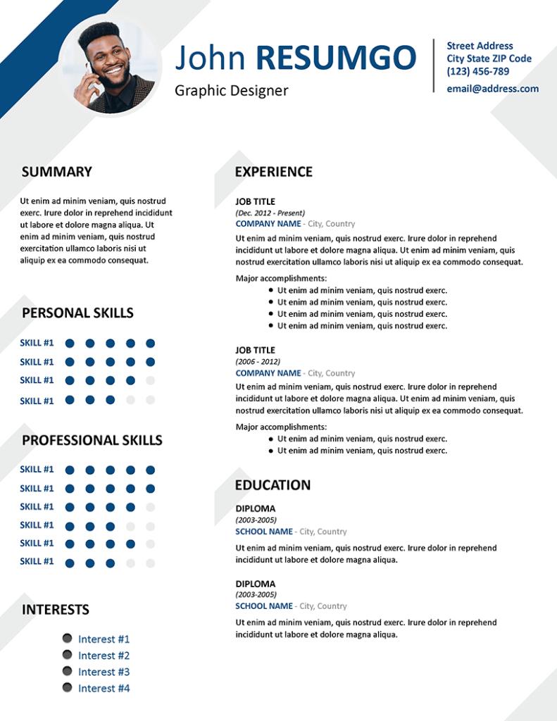 HESIOD - Free Resume Template - RESUMGO