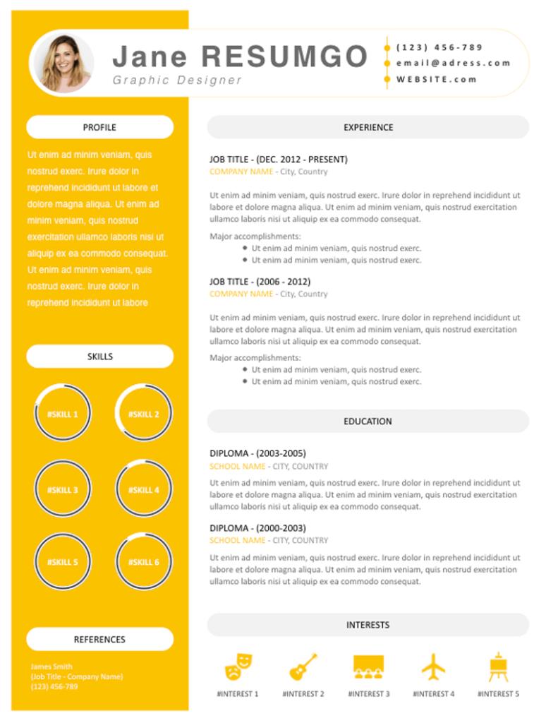 Iantha - Free Resume Template - ResumGO
