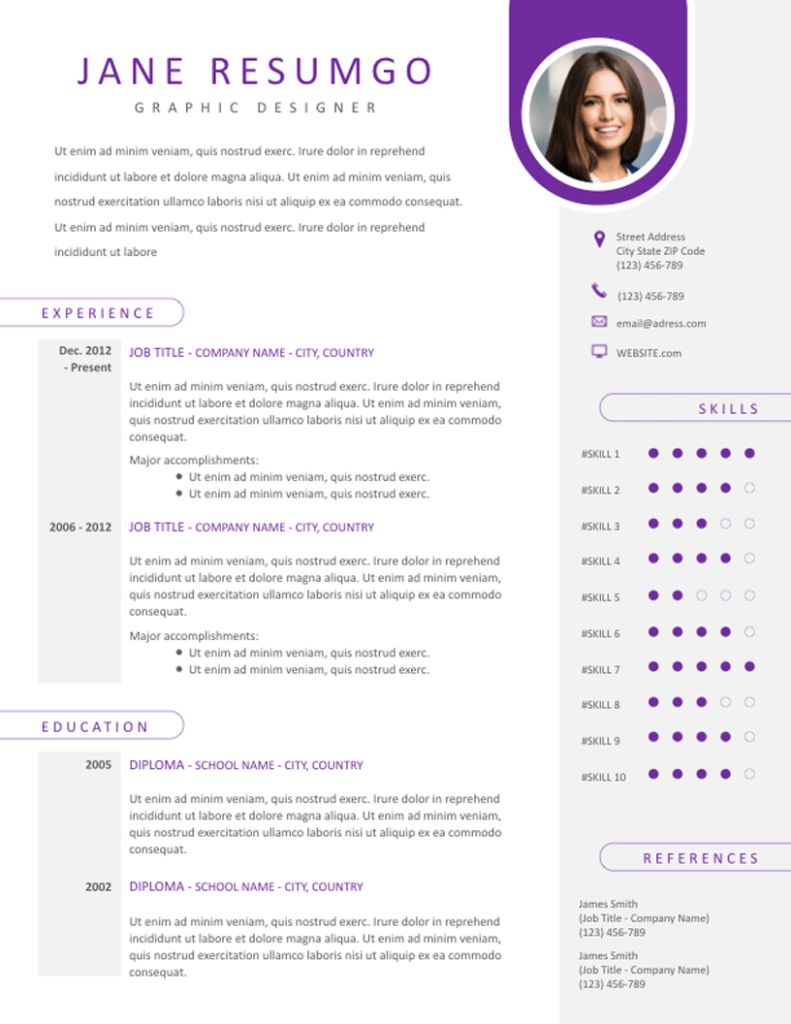 Kleio - Free Resume Template - ResumGO