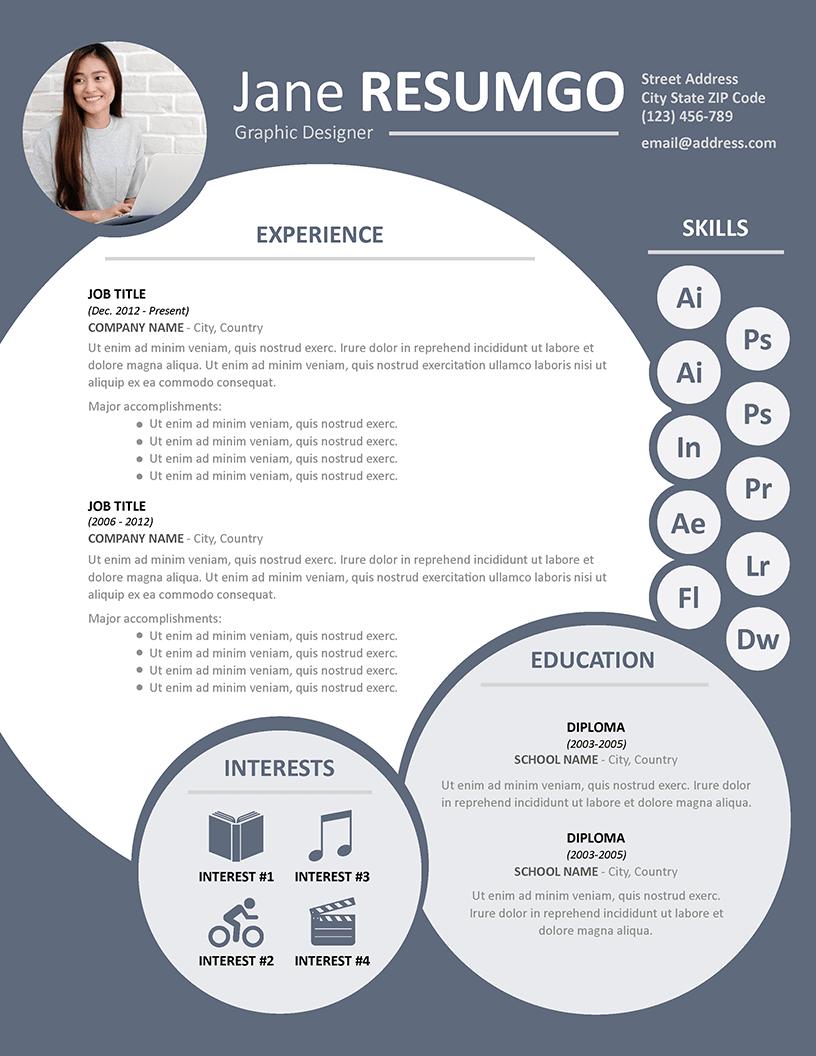 NEPHELE - Free Creative Resume Template - RESUMGO