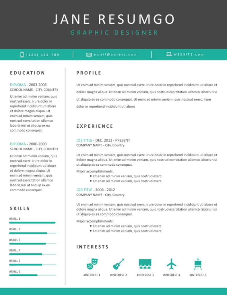 Tanis - Free Resume Template - ResumGO