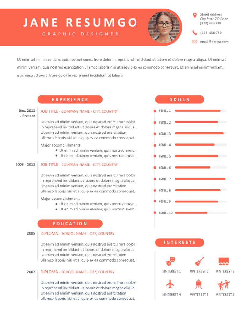 Thecla - Free Resume Template - RESUMGO
