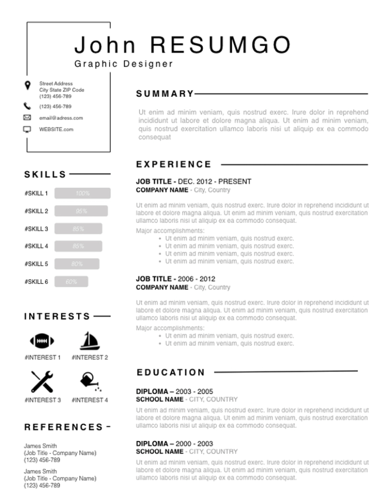 Titos - Free Resume Template - ResumGO