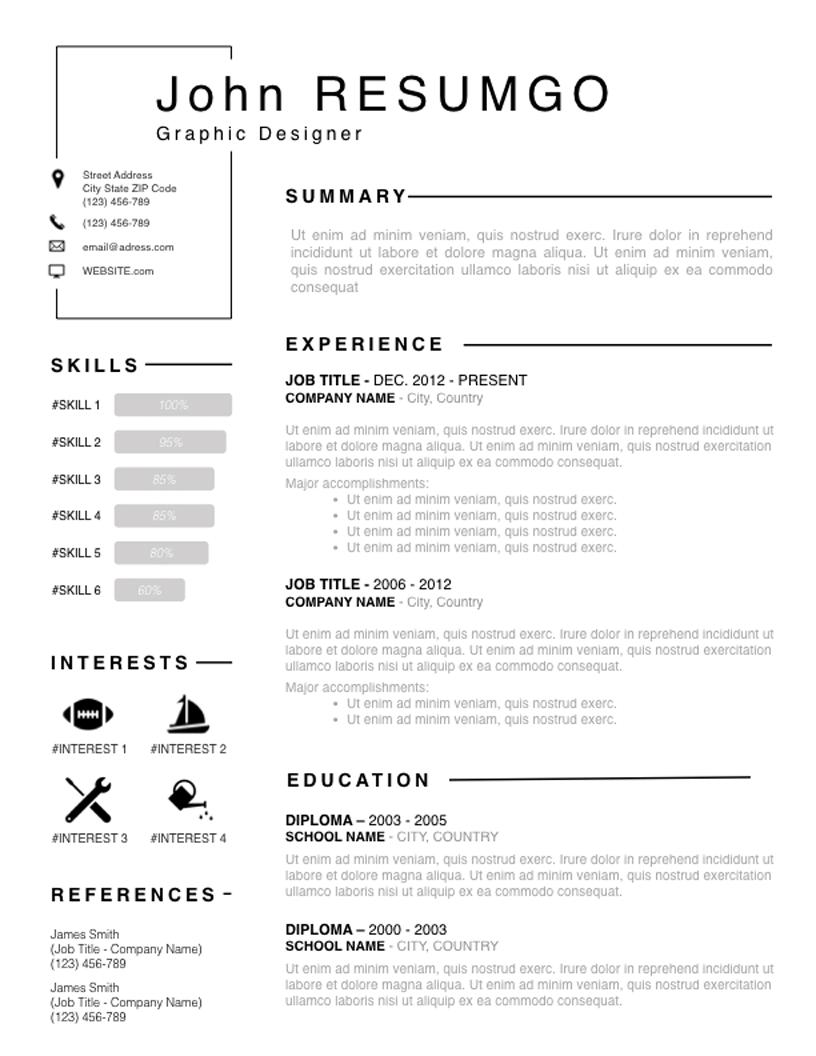 Titos - Free Resume Template - RESUMGO
