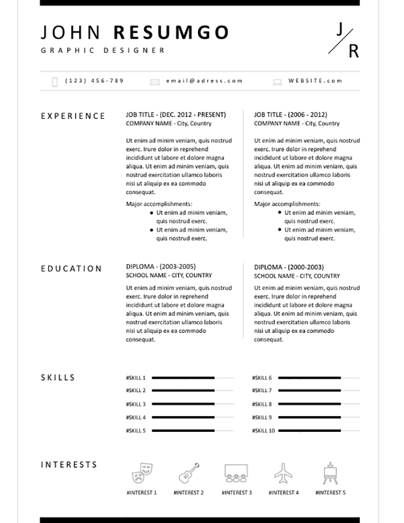 BION Classic Resume Template