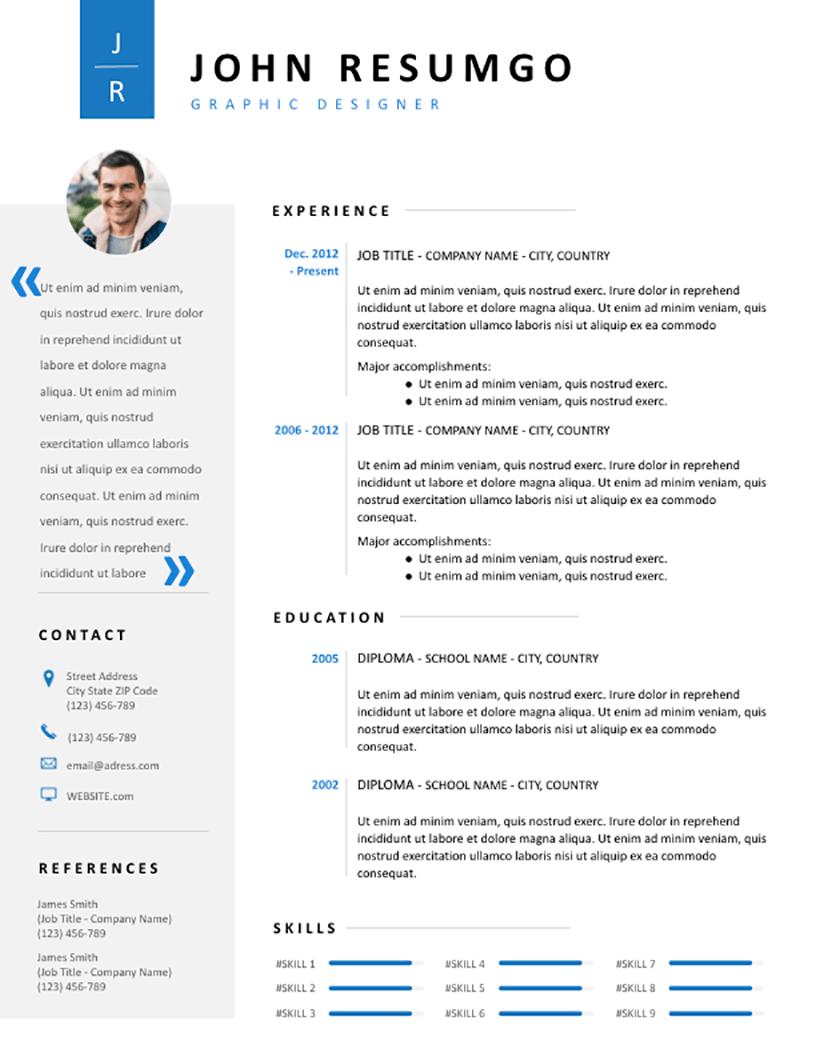 Cadmus - Free Resume Template - RESUMGO
