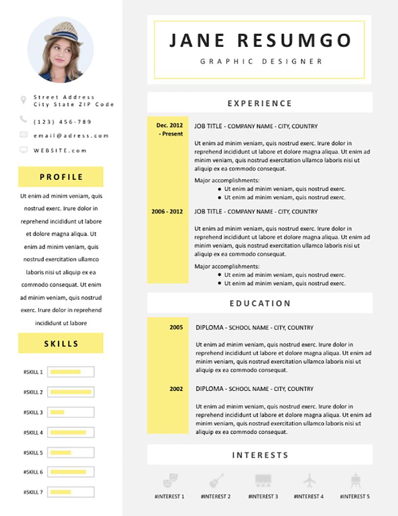 Celandine - Free Resume Template - RESUMGO