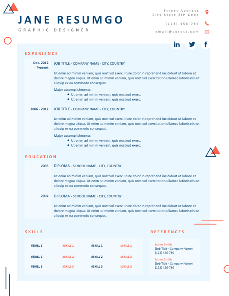Dorcia - Free Resume Template - RESUMGO