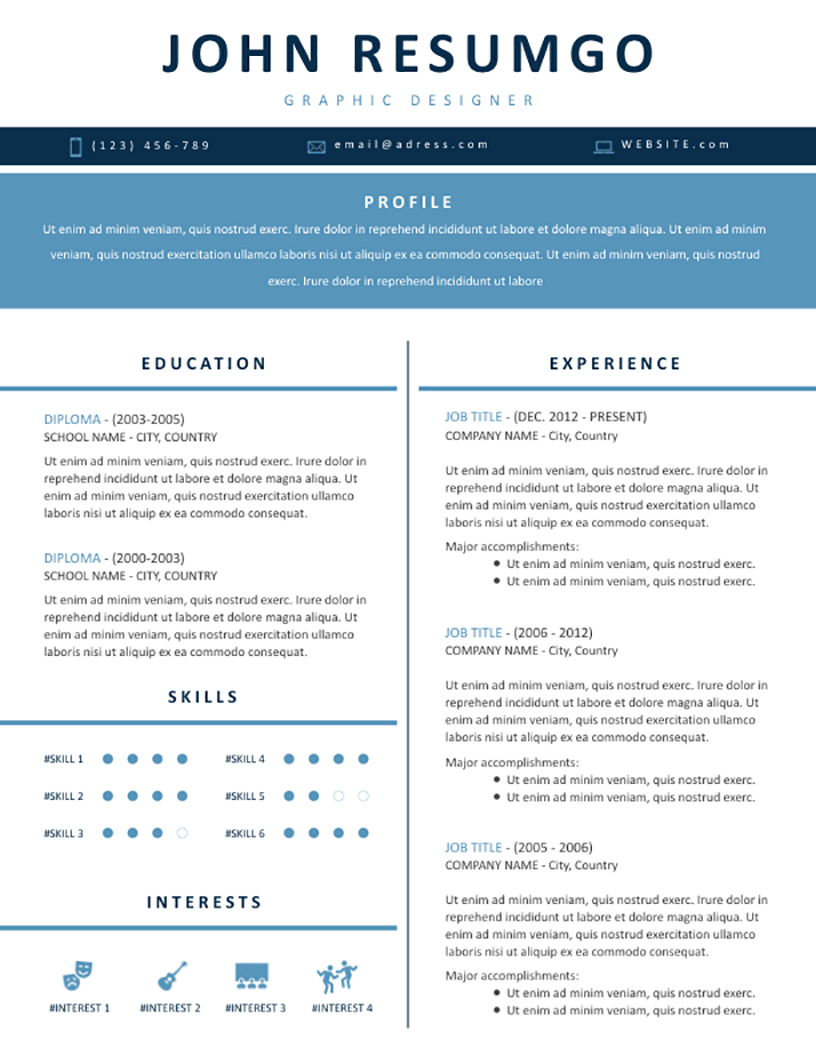 Elpida - Free Resume Template - RESUMGO