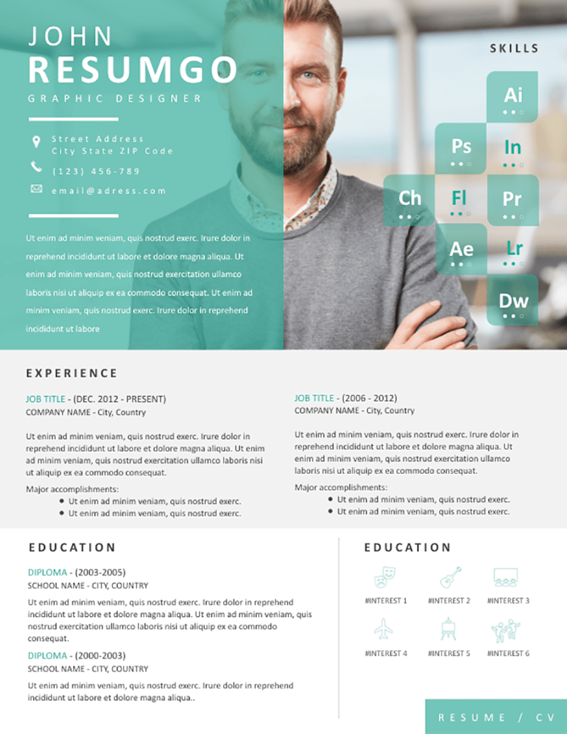 ENVO Eye Catching Resume Template