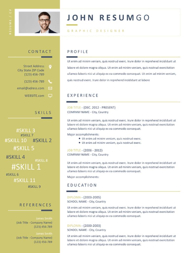 Erato - Free Resume Template - RESUMGO