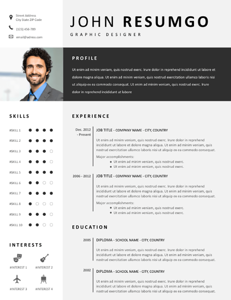 Fotis - Free Resume Template - RESUMGO