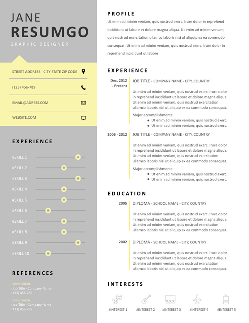 HARMONIA Clever Resume Template