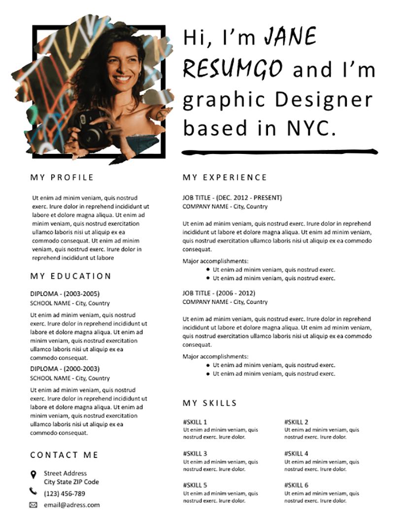 Iola - Free Resume Template - RESUMGO