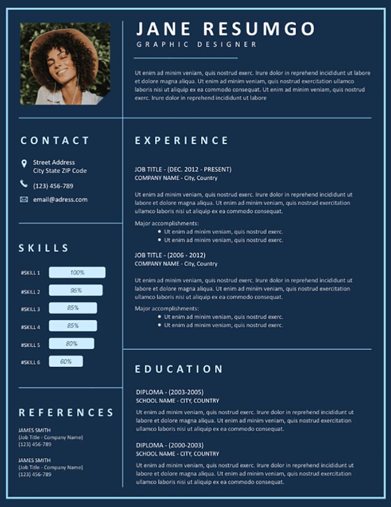 Kadmos - Free Resume Template - RESUMGO