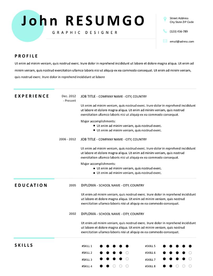 Makarios - Free Resume Template - RESUMGO