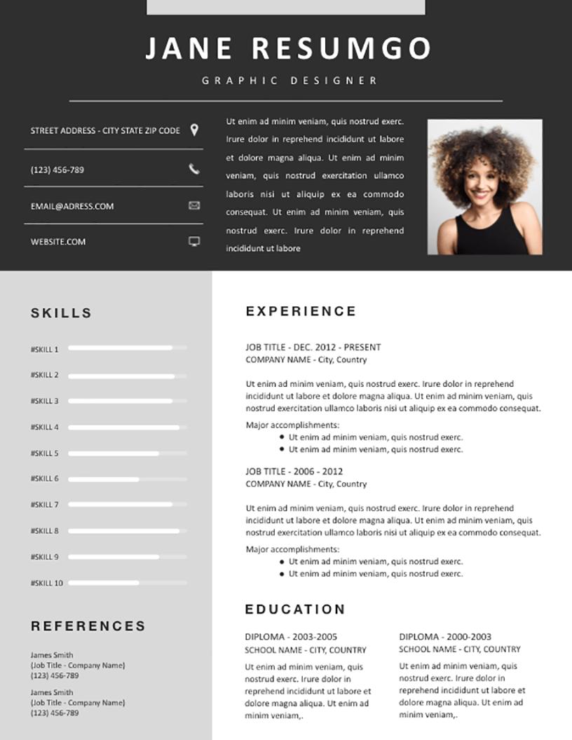 Medousa - Free Resume Template - RESUMGO