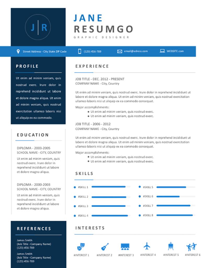 Natasa - Free Resume Template - RESUMGO