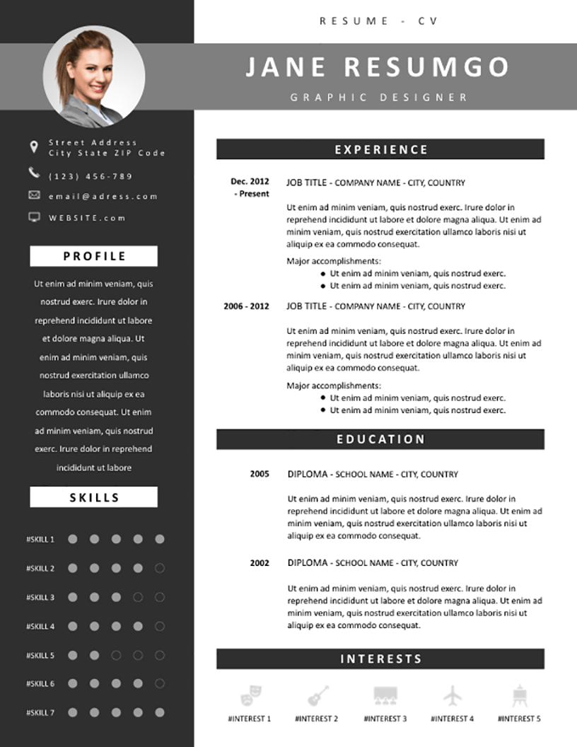 Oinone - Free Resume Template - RESUMGO