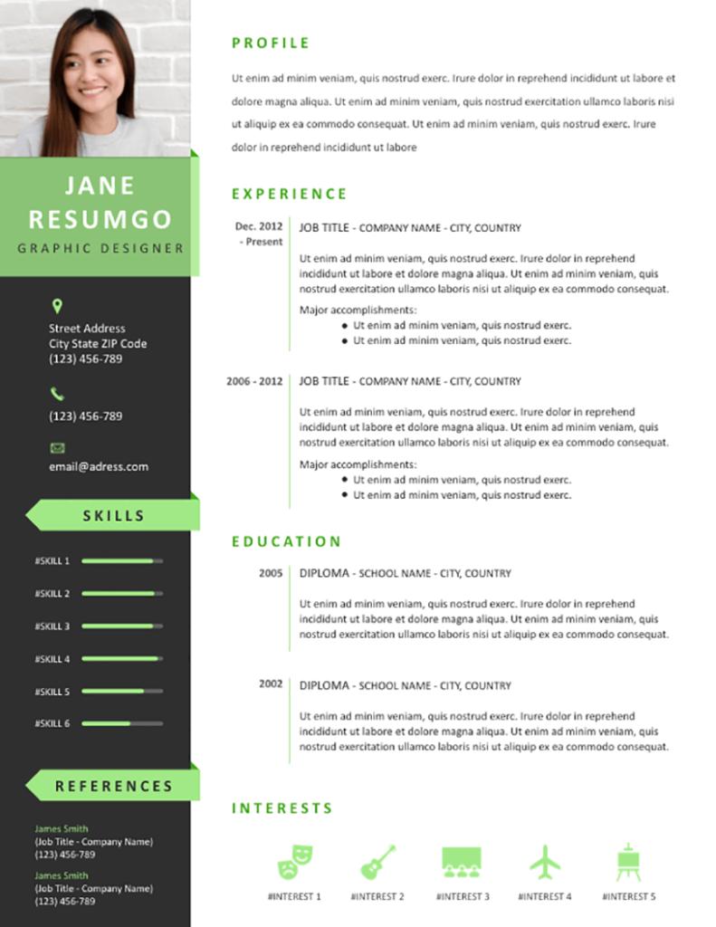 Pelagios - Free Resume Template - RESUMGO