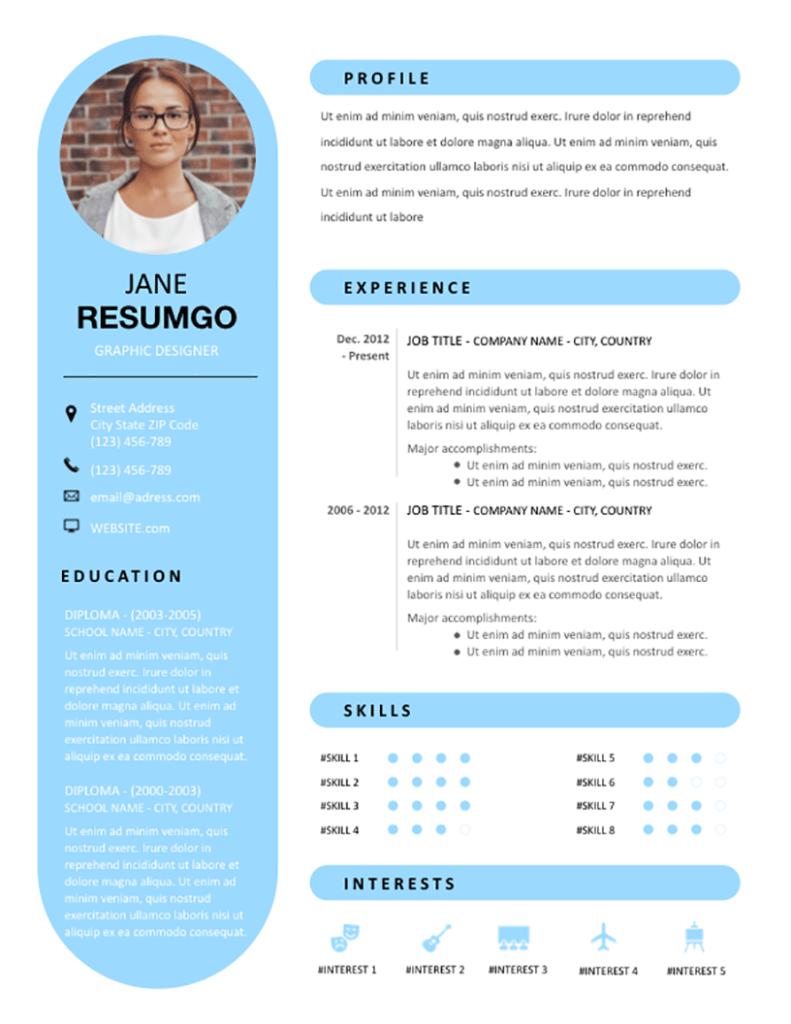 Rhea - Free Resume Template - RESUMGO