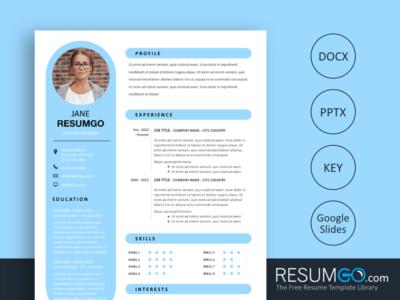 Rhea - Free Round Resume Template - ResumGO