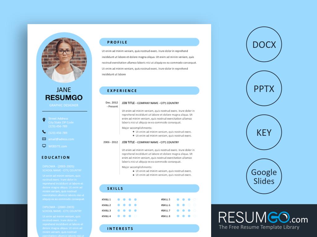 RHEA – Round Resume Template - ResumGO com