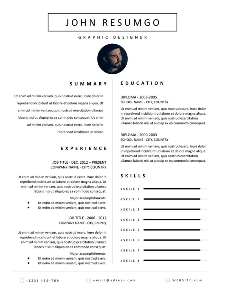 Selene - Free Resume Template - RESUMGO