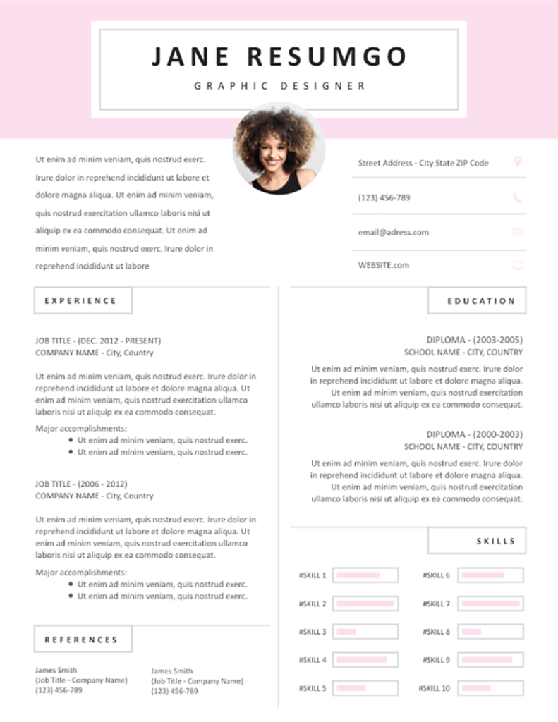 Sotiria - Free Resume Template - RESUMGO