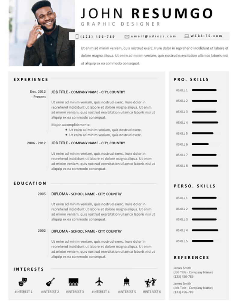 Telamon - Free Resume Template - RESUMGO