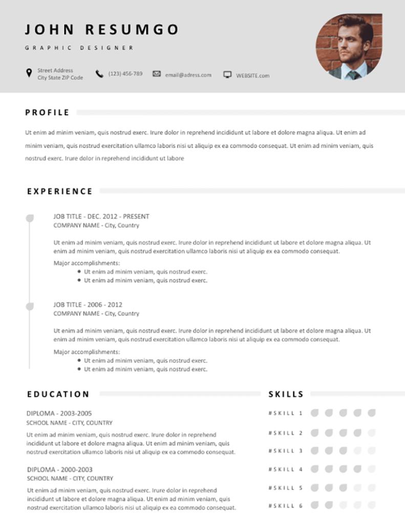 Zopyros - Free Resume Template - RESUMGO