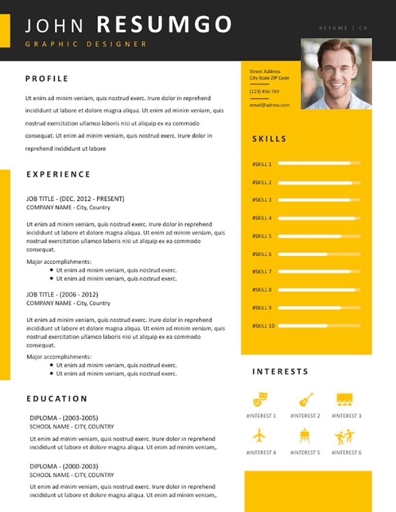 Zotikos - Free Resume Template - RESUMGO