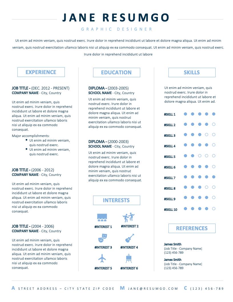 JONAS - Free Resume Template - RESUMGO