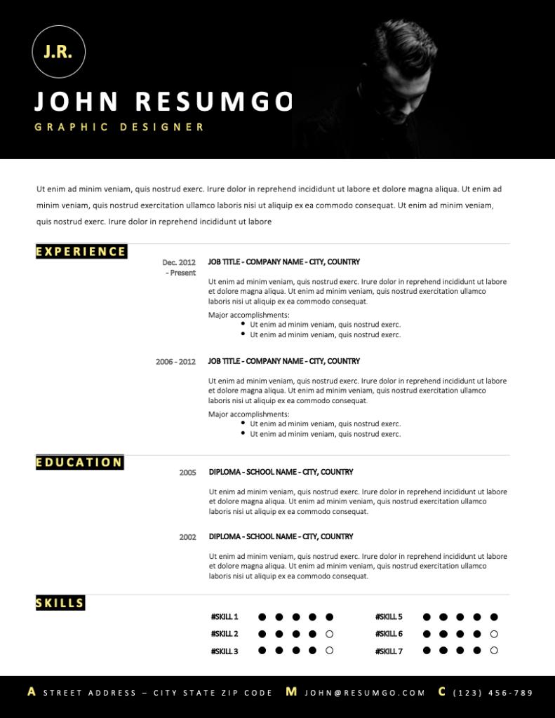 MENTOR - Free Resume Template - RESUMGO