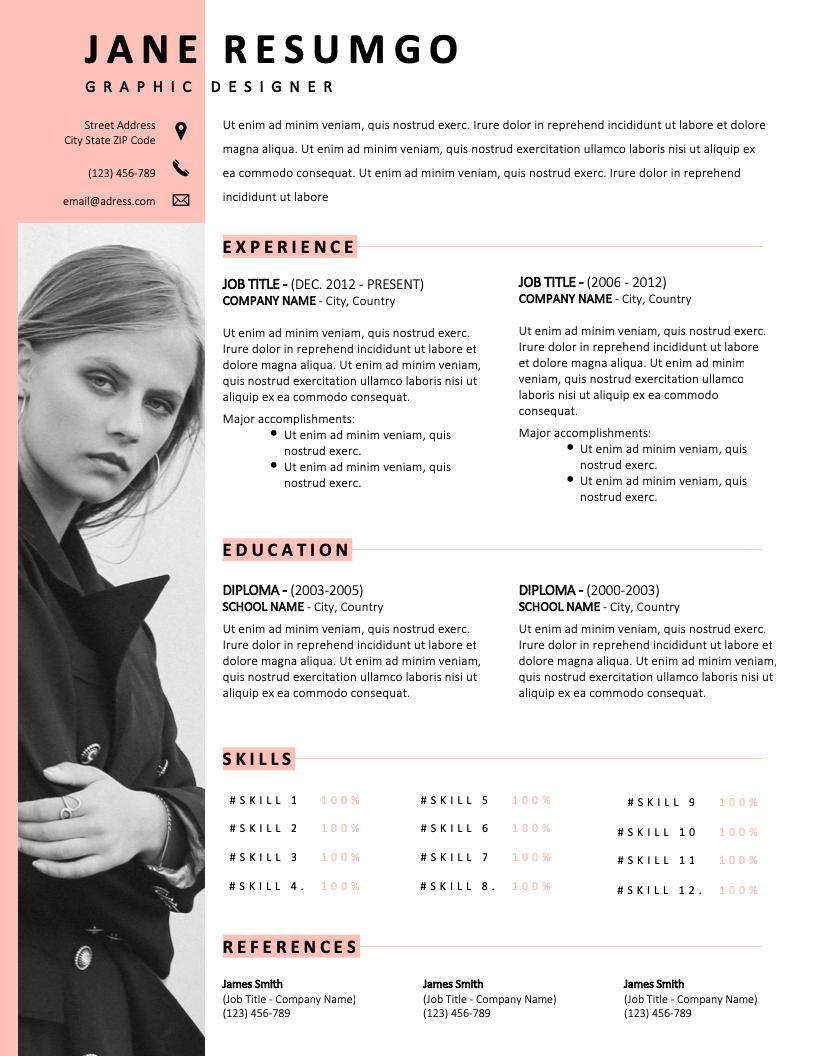 ZOSIME - Free Resume Template - RESUMGO