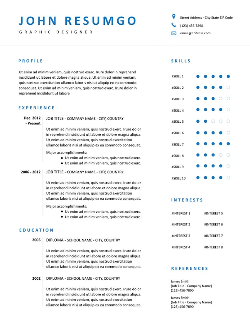 EUDOKIA - Free Resume Template - RESUMGO