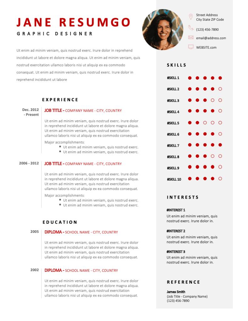 HEKATE - Free Resume Template - RESUMGO