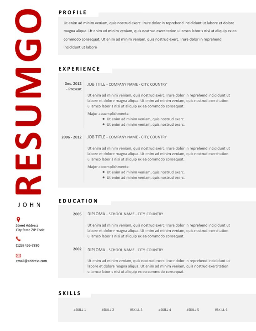 HJARTA - Free Resume Template - RESUMGO