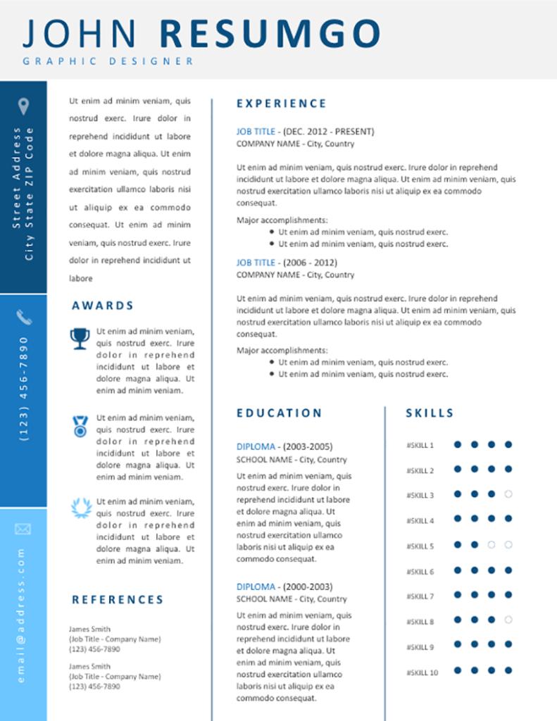 KORINNA - Free Resume Template - RESUMGO