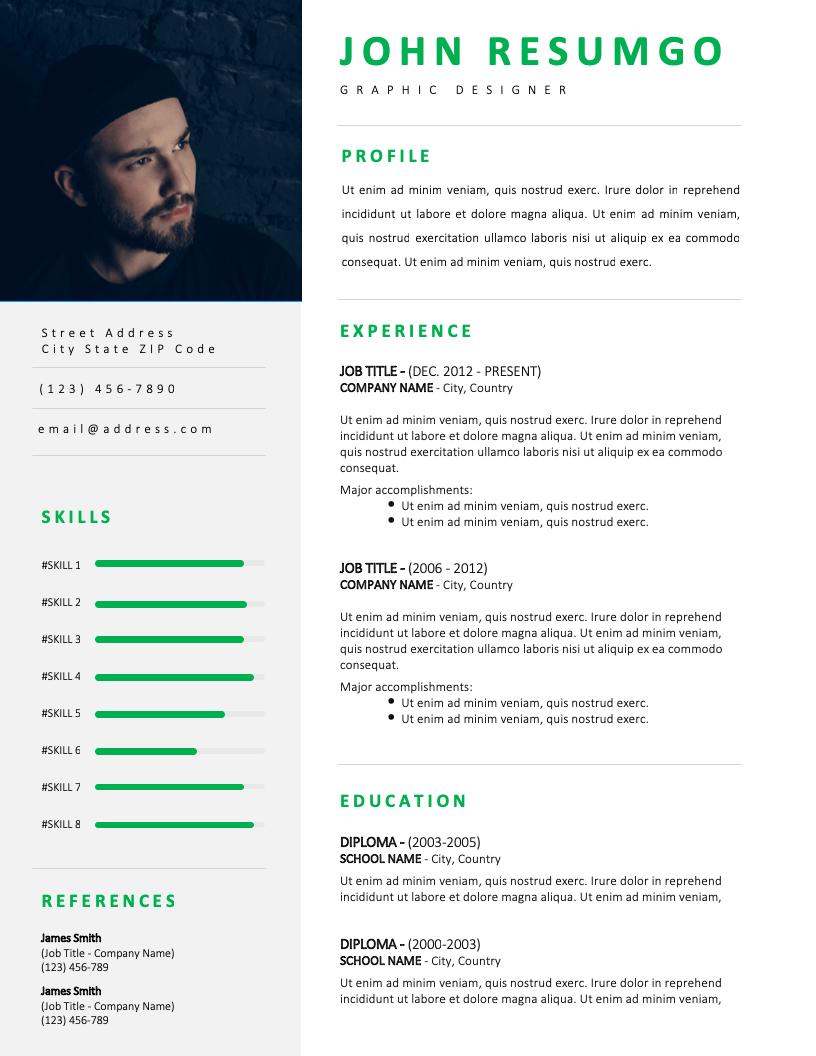 NEREUS - Free Resume Template - RESUMGO