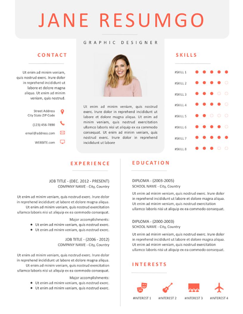 ORIGEN - Free Resume Template - RESUMGO