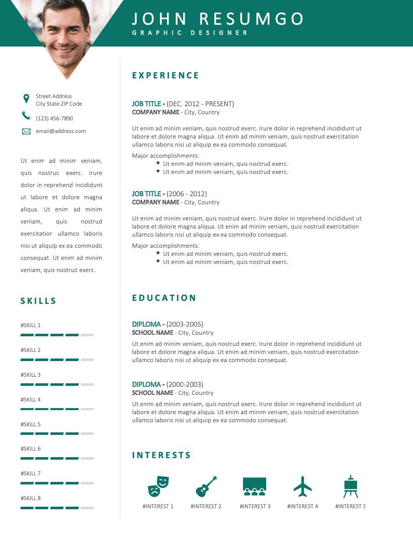 PAMPHILOS - Free Resume Template - RESUMGO