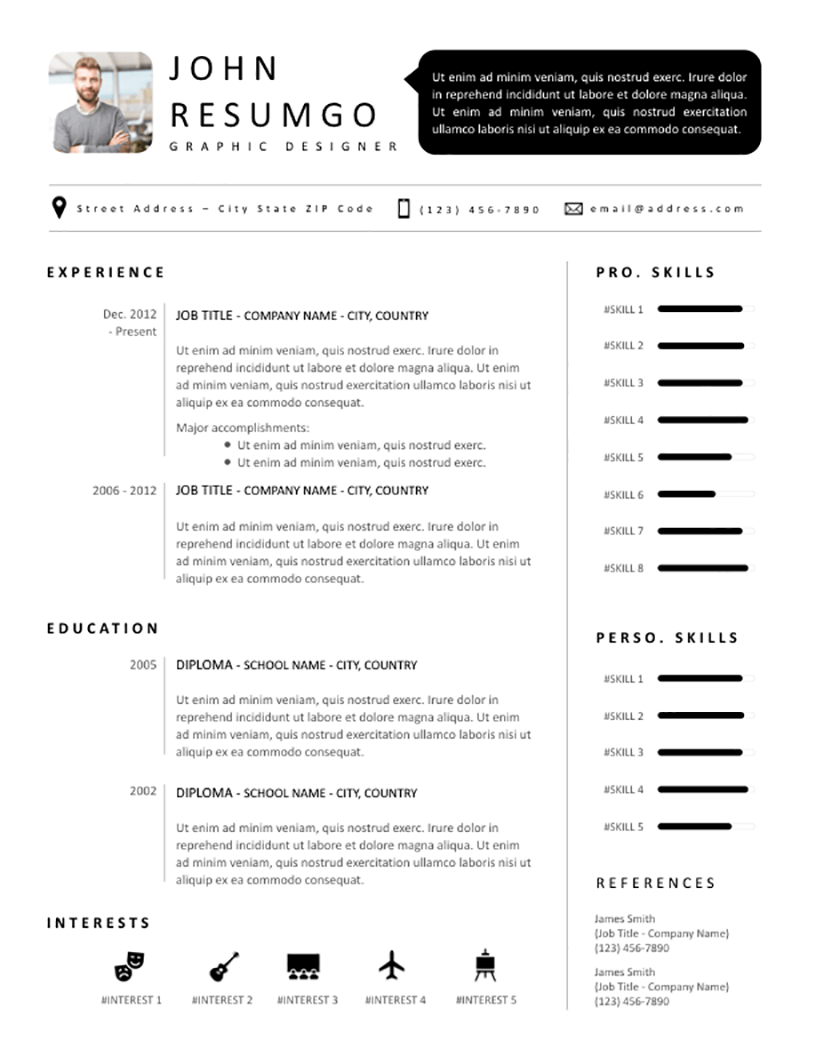 SETHOS - Free Resume Template - RESUMGO