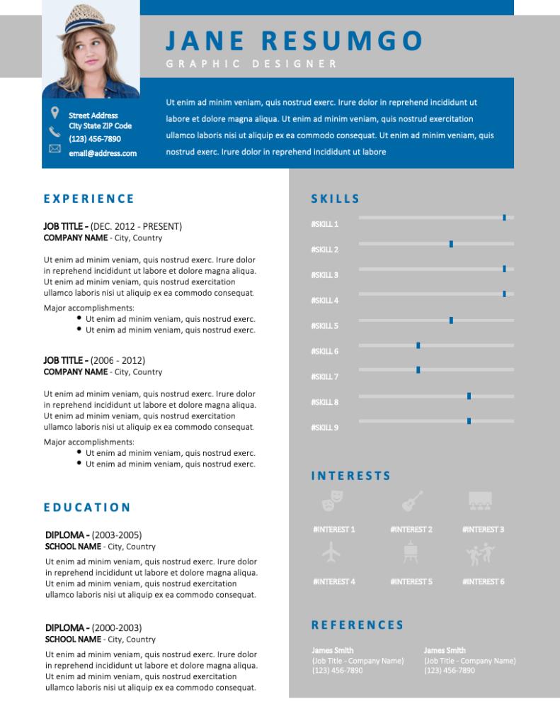 USIRIS - Free Resume Template - RESUMGO