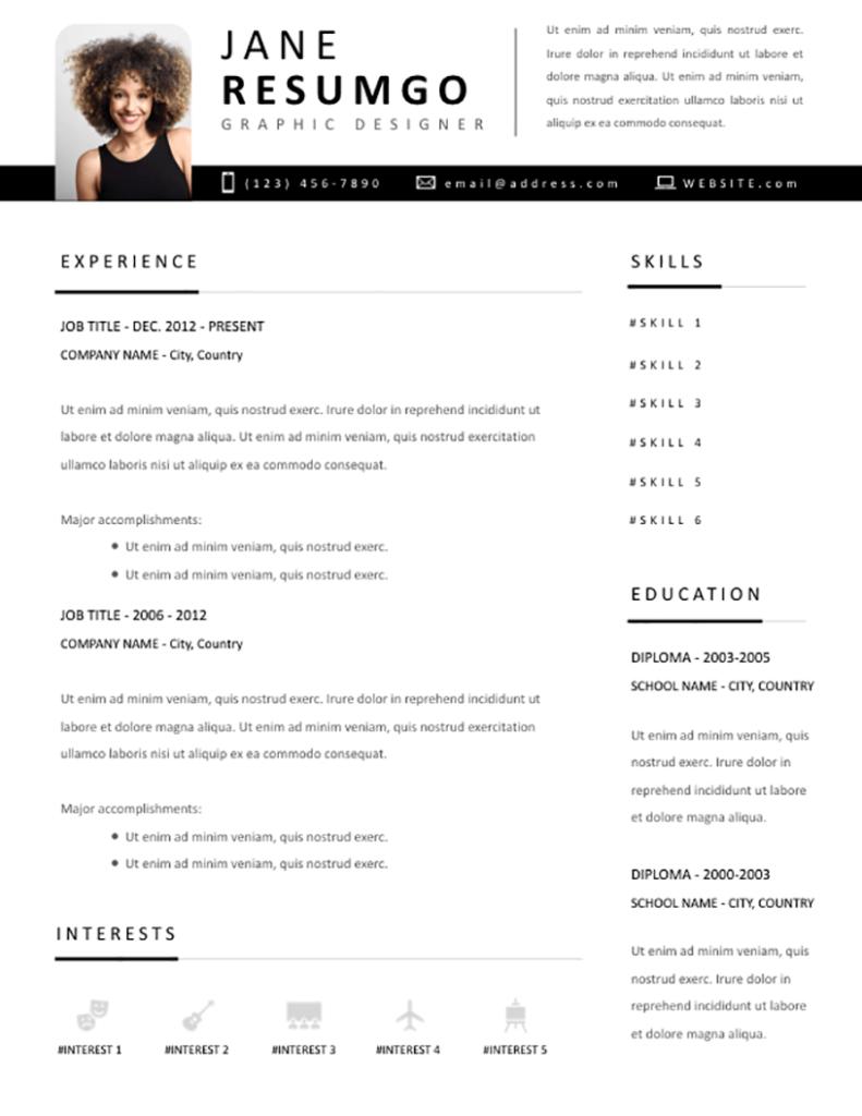 YORGOS - Free Resume Template - RESUMGO