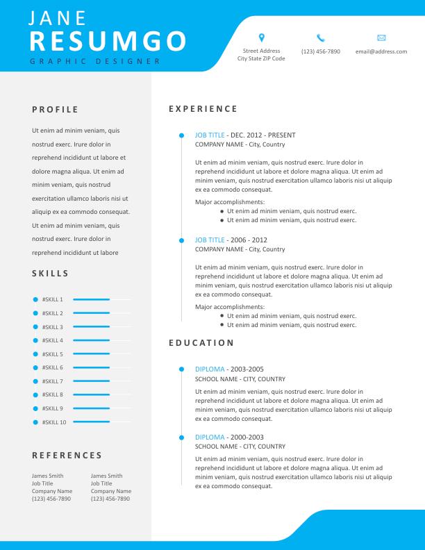 ALEXIUS - Free Resume Template - ResumGO