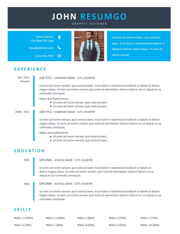 ECHO - Free Resume Template - ResumGO